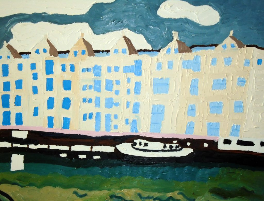 Bristol Riverfront Oil on canvas 76x61 3370