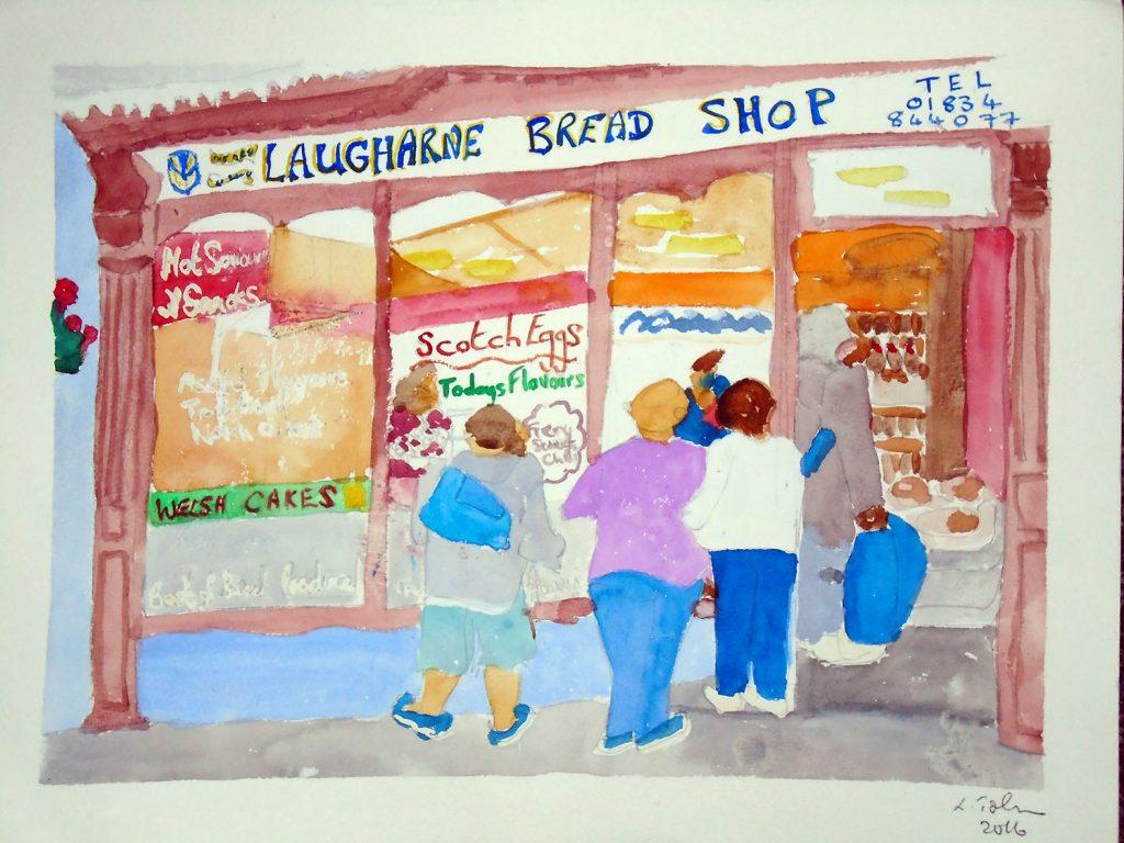 Laugharne bread Shop Print 36x28 £25