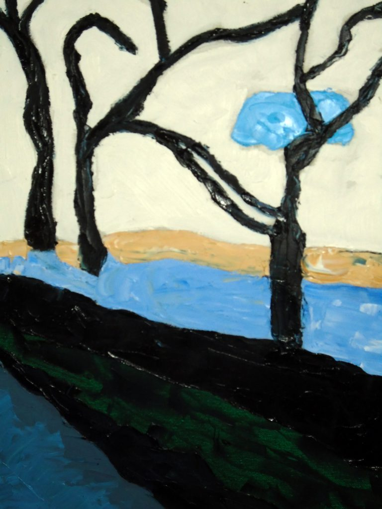 Lawrenny Quay in Winter Oil on canvas 40x50 £180