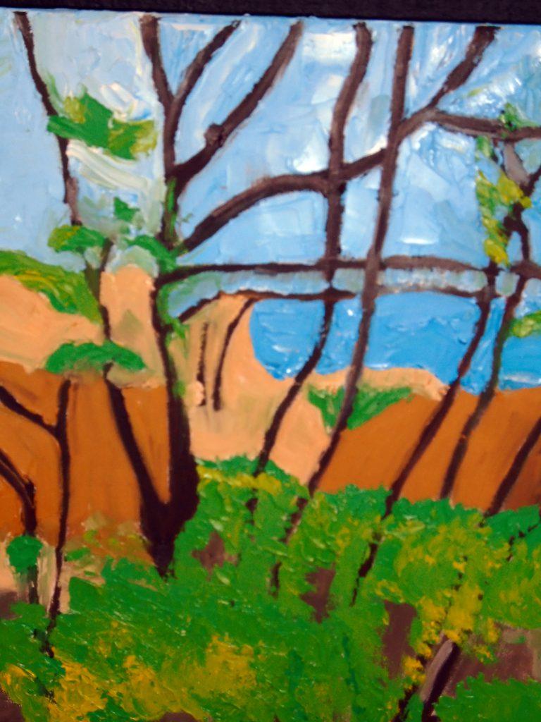 Lawrenny Quay spring Oil on canvas 30x40 £150-001