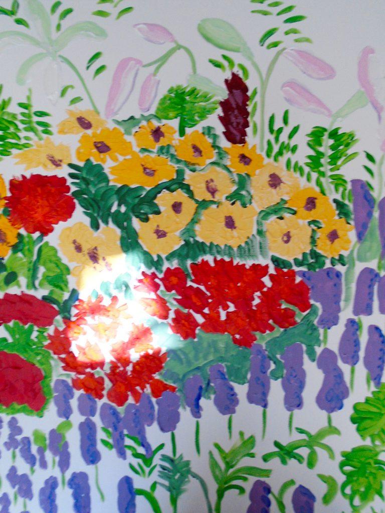 Orange flowers, Acrylic on Canvas 76x61 £370