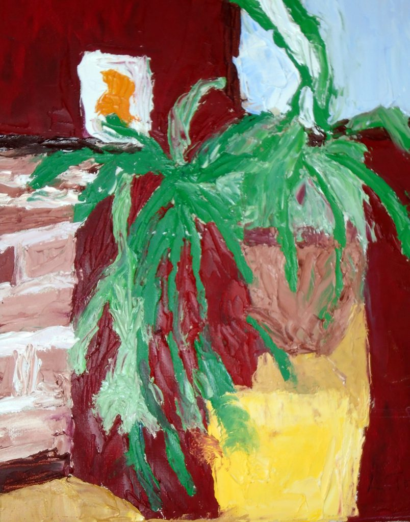 Plant oil on canvas 23x30 £80