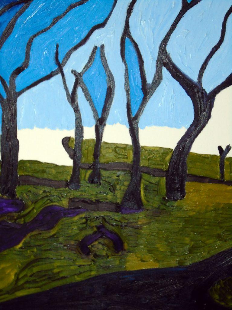 Sunday walk Oli on canvas 50x61 £210