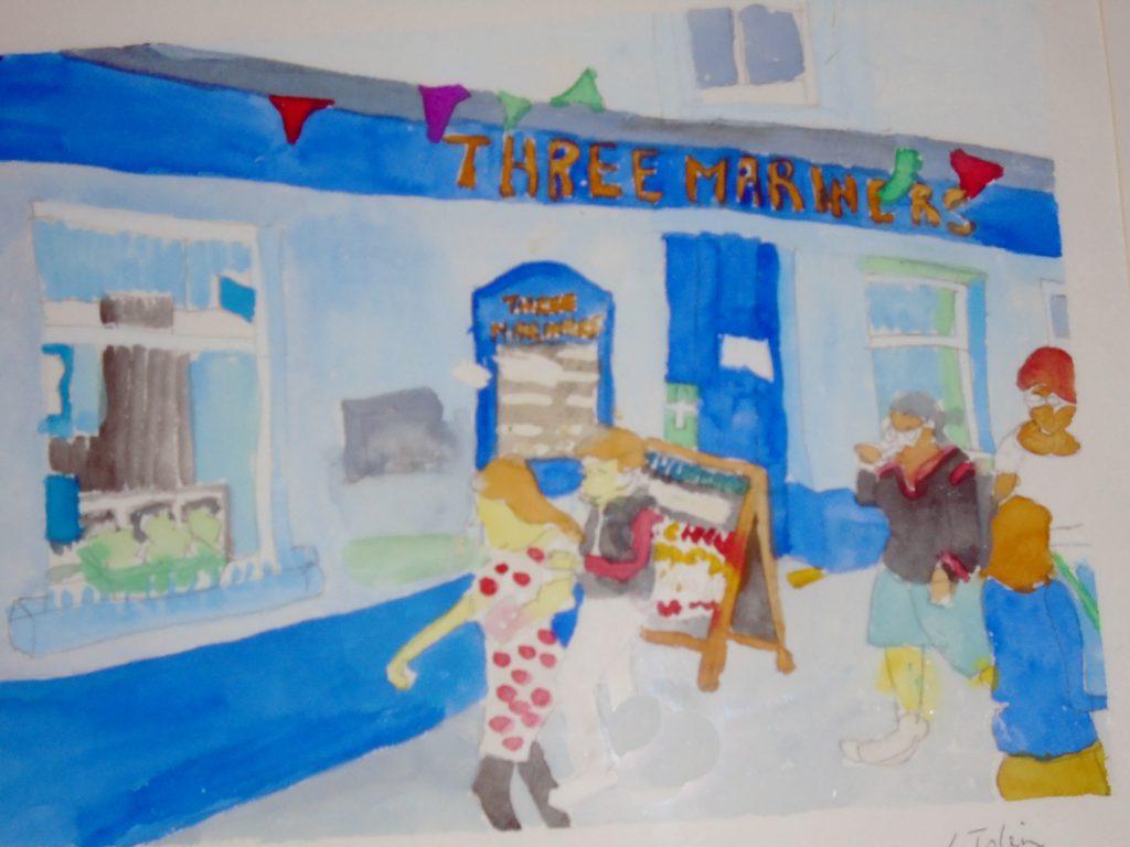 The Three Mariners Watercolour 54x44 £135