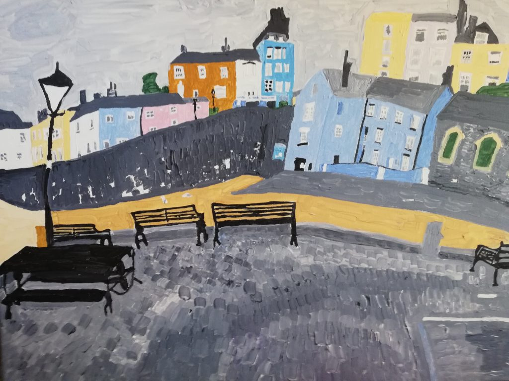 Tenby Harbour on a grey day Acrylic 61 x 76cm £370