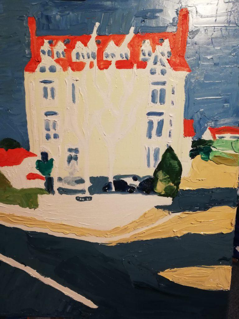 Bryn-y-Mor Tenby oil on canvas 50x61cm £300
