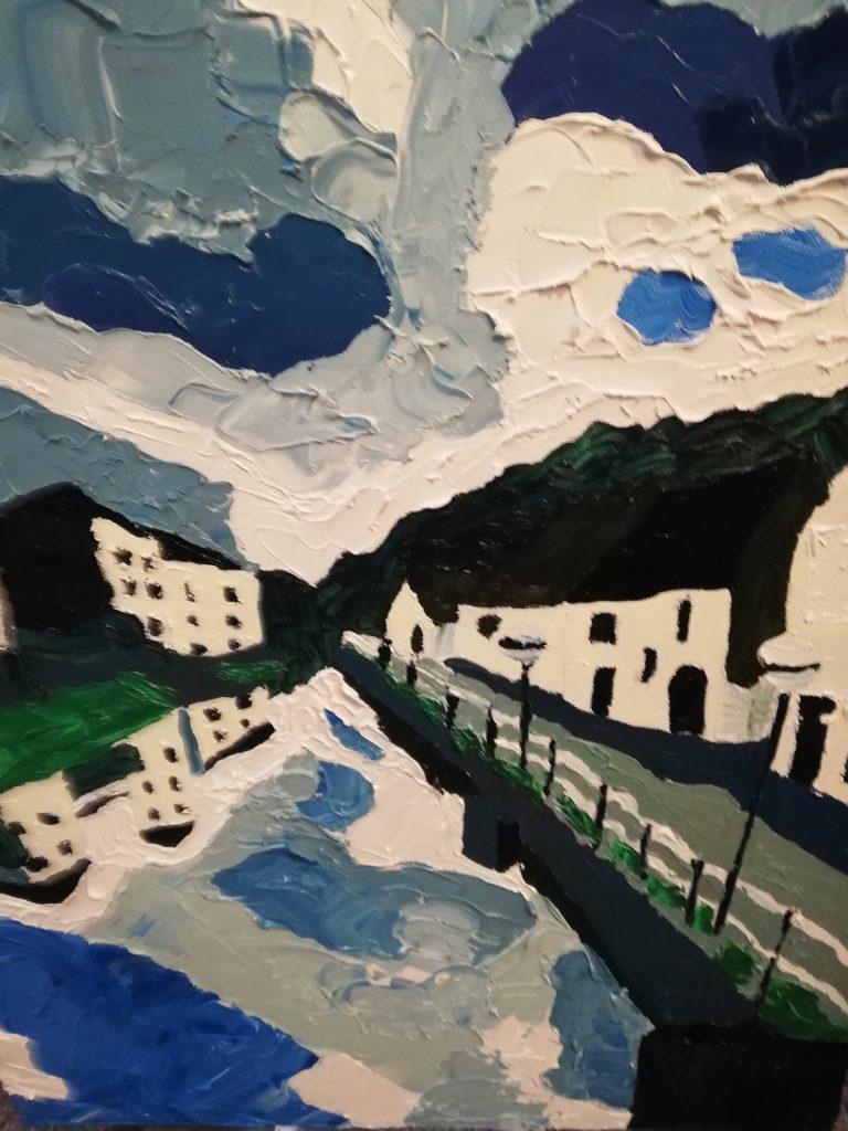 Haverfordwest Oil on canvas 50x61cm £300