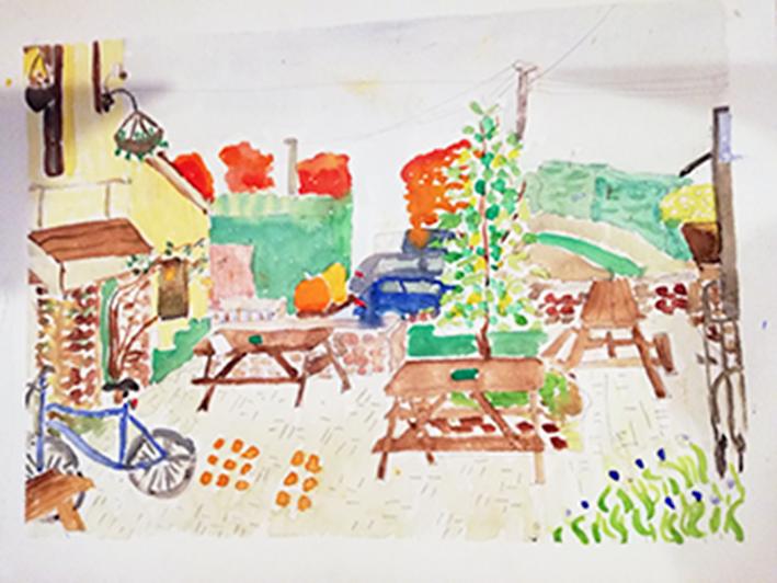 Rose Inn watercolour Print 36x28cm £25