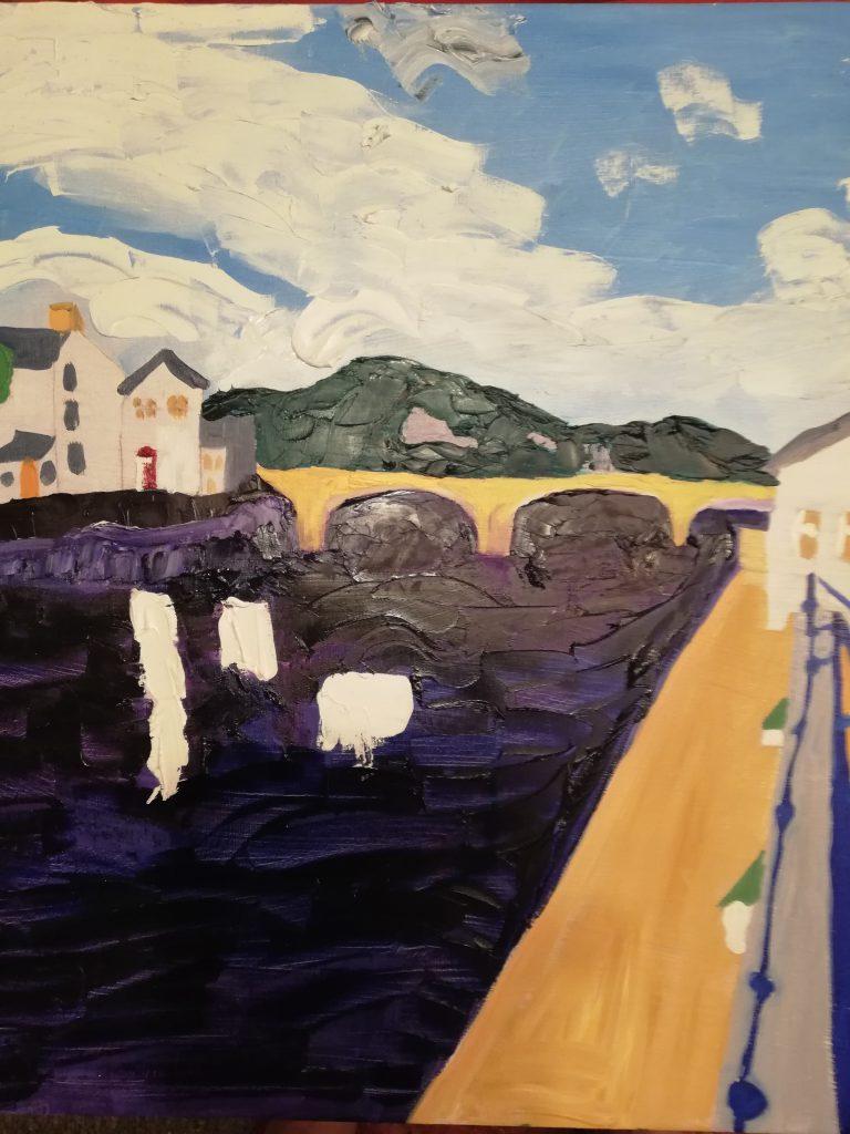 Haverfordwest Trilogy II Acrylic on canvas 57cm x 57cm £150