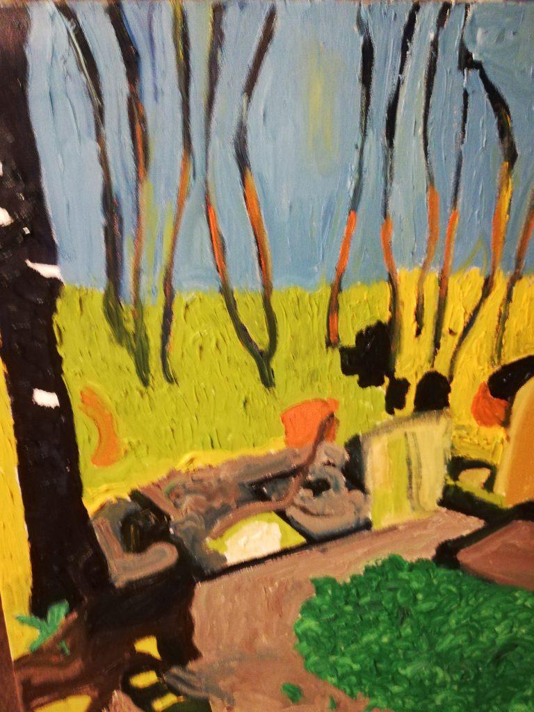 Urban Trees IV - Oil on canvas 40cm x 50cm £250