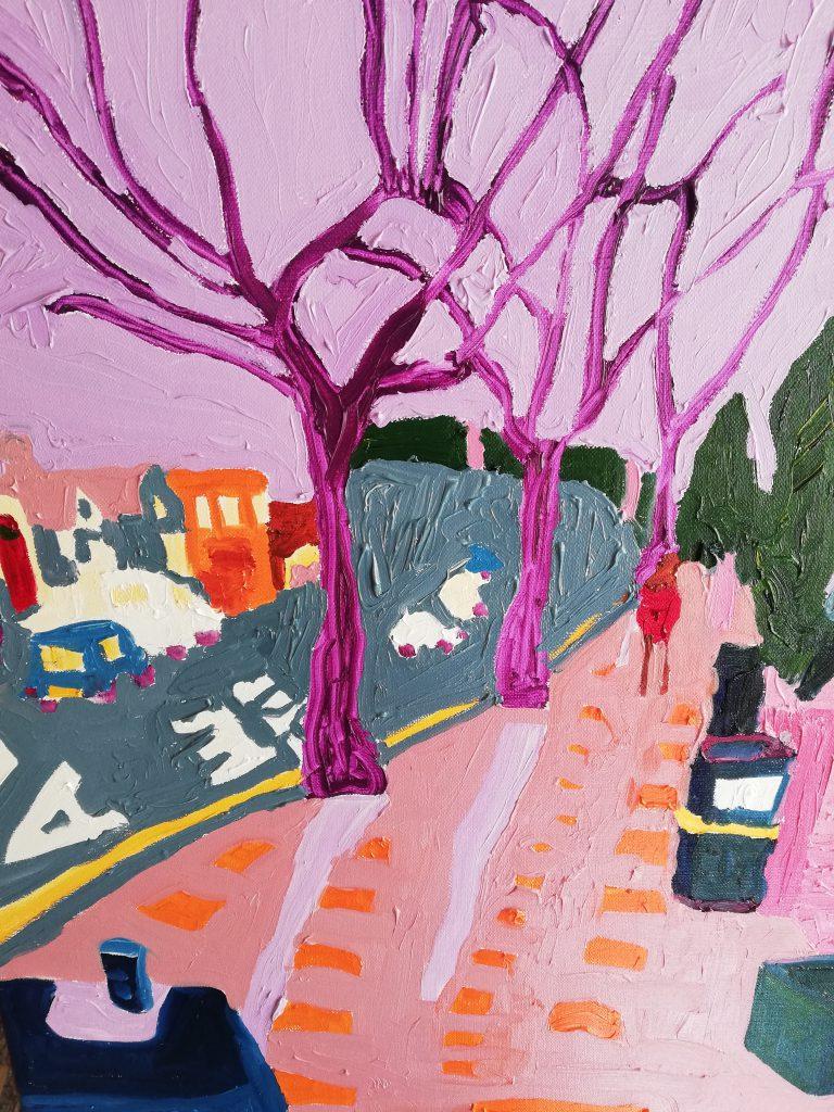 Urban Trees V - Oil on canvas 41cm x 50cm £250