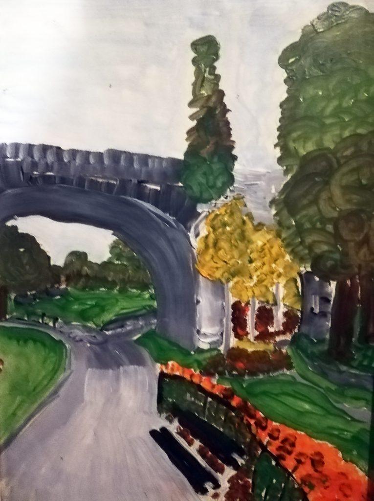 Bridge Acrylic on paper framed 23x33cm £40