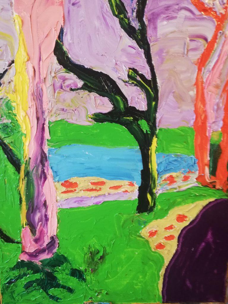 Spring Trees 111 Oil on canvas 41cm x 50cm £300