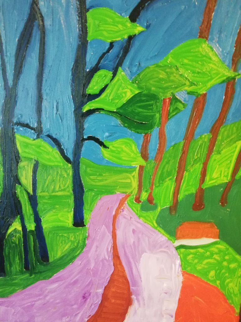 Spring Trees I Oil on canvas 41cmx50cm £300