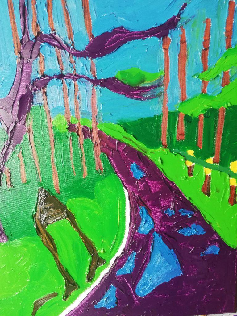Spring Trees II Oil on canvas 41cmx50cm £300