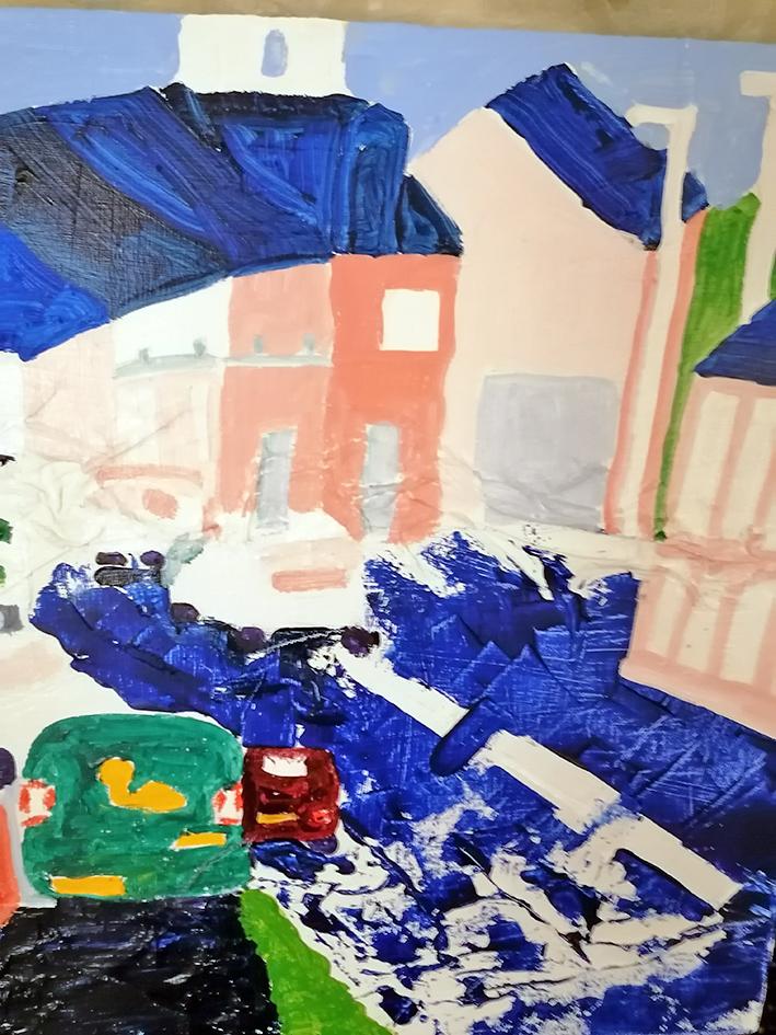 Monument Hill acrylic on recy cled canvas 50cmx50cm £355