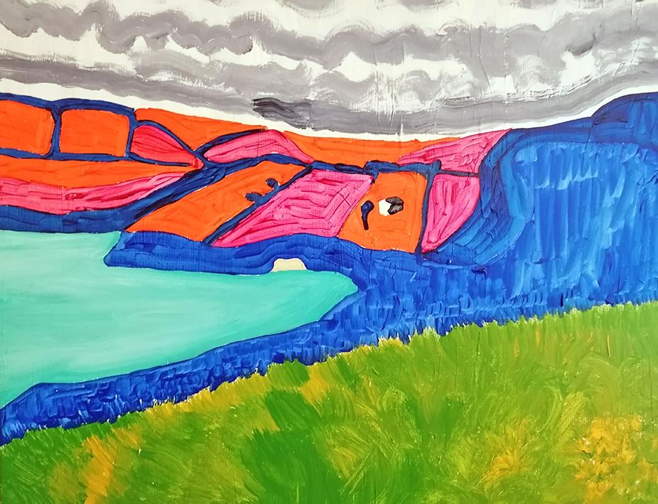 Pembrokeshire landscape acrylic on canvas 76x61cm £650
