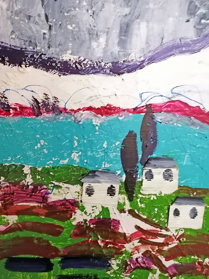Welsh Landscape acrylic on re cycled canvas 51x61cm £355