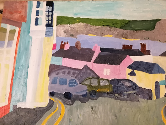Tenby Harbour 2 acrylic on canvas 61x76cm £355