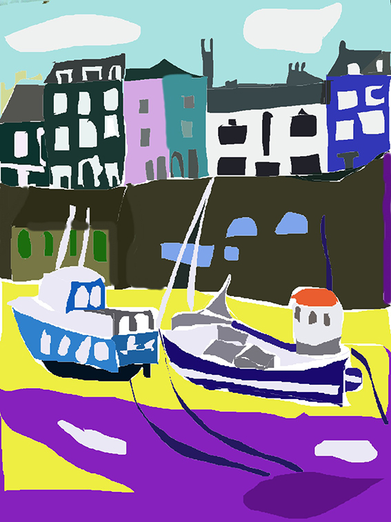 boats in dry harbour (3)